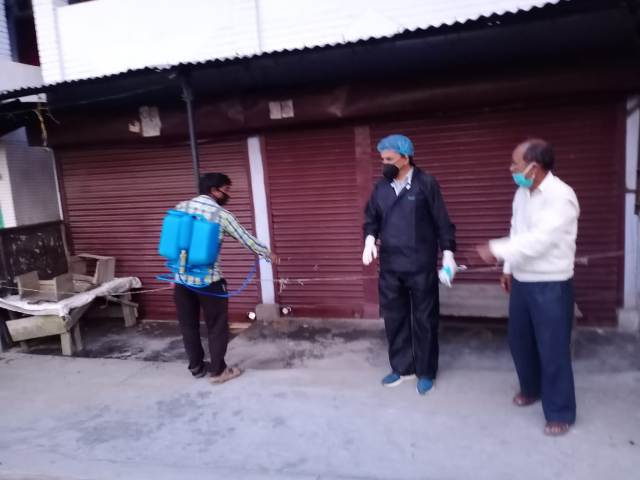 Relief material distributed to the needy, sanitized the city as well