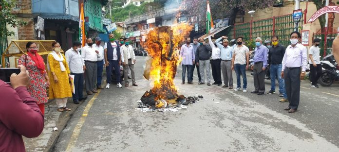 Congress burnt